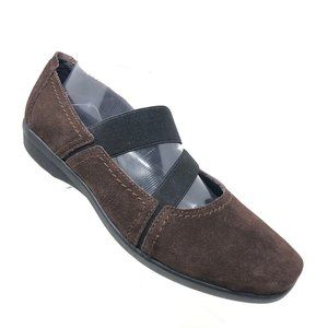 Clarks Haydn Juniper Brown Stretch Ballet Flat 10W